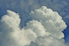 BILLOWING WHITE CLOUDS Royalty Free Stock Images