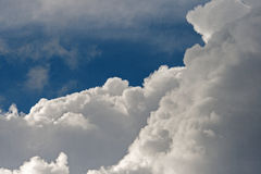 BILLOWING WHITE CLOUDS royalty free stock photo