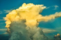 Billowy cloud formation. A billowy cloud formation. Heavenly, majestic and awe inspiring Royalty Free Stock Images