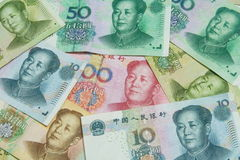 Bills background, China  money Stock Photo