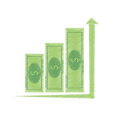Bills business graphic increment icon. Illustration Stock Photography