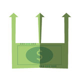 Bills business graphic increment icon. Illustration Royalty Free Stock Images