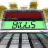 Bills Calculated Shows Accounts Payable And Due Royalty Free Stock Image