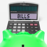 Bills Calculator Shows Invoices Payable And Accounting Stock Photo