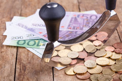 Bills and coins Royalty Free Stock Photo