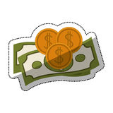 bills and coins design Royalty Free Stock Image