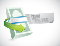 Bills credit counseling sign illustration Royalty Free Stock Image