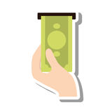 Bills dispensing machine icon Royalty Free Stock Images