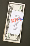 Bills and dollars Stock Photo
