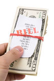 Bills and dollars Stock Photos