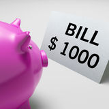 Bills Dollars Shows Invoices Payable And Accounting Stock Photos