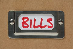 Bills Drawer Label Royalty Free Stock Images