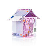 Bills euro house Royalty Free Stock Image
