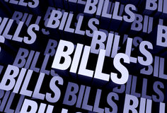Bills Everywhere Royalty Free Stock Photo