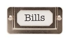 Bills File Drawer Label Royalty Free Stock Photos