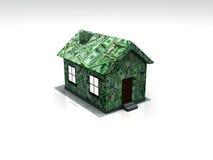 bills house gjort Arkivbild