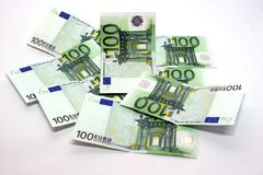 Bills of hundred euro Stock Images