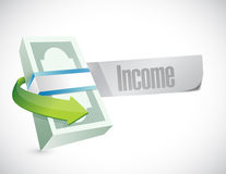 Bills income message illustration design Stock Images