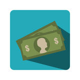 Bills money isolated icon Royalty Free Stock Photography