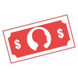 Bills money isolated icon Royalty Free Stock Images