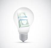 Bills and money light bulb illustration design Royalty Free Stock Photo