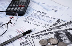 Bills and money Stock Photos