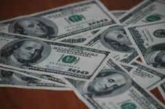Bills of one hundred American dollars Stock Image