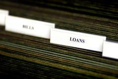 Bills Organized in Filings Tabs Stock Photo