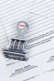 Bills paid stamp Royalty Free Stock Images