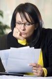 bills pay stressful to Στοκ Εικόνες