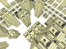 Bills placed as streets and building of city Royalty Free Stock Image