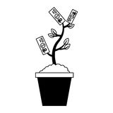 Bills plant isolated icon Royalty Free Stock Image