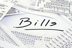Bills to be paid Stock Photo