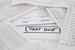 Bills to be paid Royalty Free Stock Photos