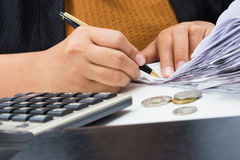 Bills to calculate Stock Photos