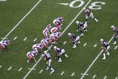 Bills vs. Patriots. The Buffalo Bills line up during the Bills, Patriots Game, September 26th, 2010 Stock Image
