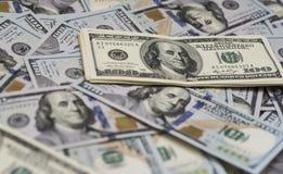 100 billsdollar Arkivbilder