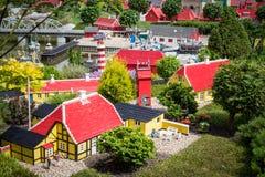Billund, Дания - 27-ое июля 2017: Деревня Skagen сделанная из ноги Стоковые Фотографии RF