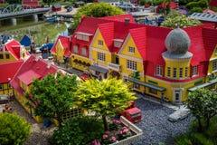 Billund, Дания - 27-ое июля 2017: Деревня Skagen сделанная из ноги Стоковая Фотография RF