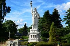 Billund, Denmark - July 26, 2016: Statue of Liberty made of Lego in Legoland. Statue of Liberty in Legoland in summer day Stock Photography