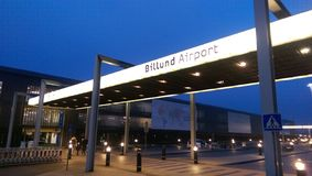 Billund flygplats Arkivbilder