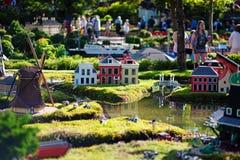 BILLUND - 31 juli, 2013: Legoland in Billund, Denemarken op 31 Juli Stock Afbeeldingen