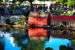 BILLUND - 31 juli, 2013: Legoland in Billund, Denemarken op 31 Juli Stock Afbeelding