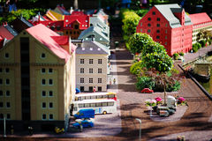 BILLUND - Juli 31, 2013: Legoland i Billund, Danmark på Juli 31 Royaltyfri Bild