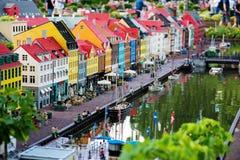 BILLUND - Juli 31, 2013: Legoland i Billund, Danmark på Juli 31 Arkivfoto