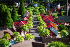 BILLUND - Juli 31, 2013: Legoland i Billund, Danmark på Juli 31 Arkivbild