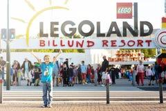 BILLUND - Juli 31, 2013: Legoland i Billund, Danmark på Juli 31 Arkivbilder