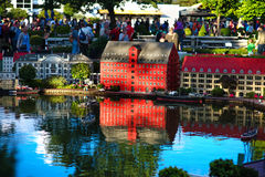 BILLUND - Juli 31, 2013: Legoland i Billund, Danmark på Juli 31 Fotografering för Bildbyråer