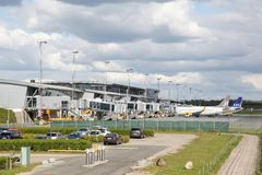 Billund lotnisko w Dani Fotografia Royalty Free