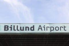 Billundluchthaven in Denemarken Stock Fotografie
